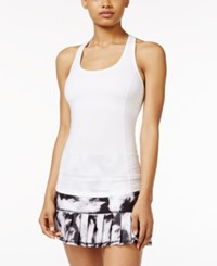Ideology Printed Braided Back Tank Top Only At Macy's Bright White