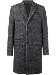 Ermanno Scervino Tweed Coat Black