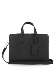 Fendi Selleria Leather Briefcase Black