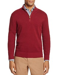 Brooks Brothers Textured Half Zip Sweater Cabernet Heather