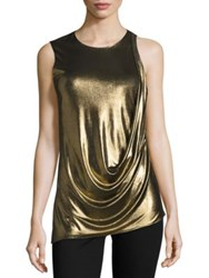 Halston Metallic Sleeveless Top
