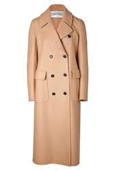 Valentino Wool Angora Double Breasted Coat