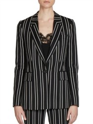Givenchy Jacquard Stripe Wool Blazer Black