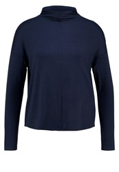 Opus Shila Long Sleeved Top Lush Blue Dark Blue