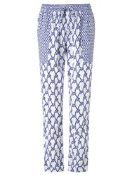 Alice By Temperley Somerset By Alice Temperley Rope Print Trousers White Blue