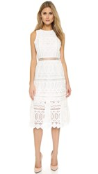 J.O.A. Lace Midi Dress White