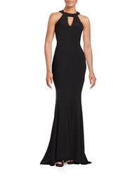 Xscape Evenings Tie Back Gown Black