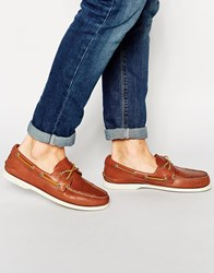 Sperry Topsider Leather Boat Shoes Tan