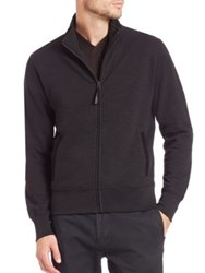 Billy Reid Suede Trim Track Jacket Black