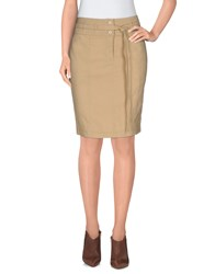 Armani Jeans Skirts Knee Length Skirts Women Sand