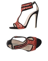 Giorgio Armani Sandals Red