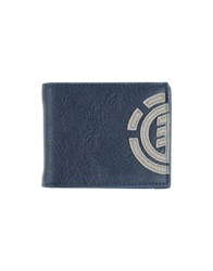 Element Small Leather Goods Wallets Men Dark Blue