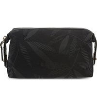 Paul Smith Travely Leaf Print Washbag Black