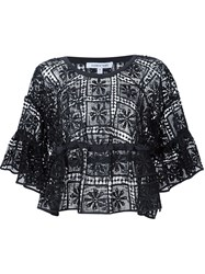 Elizabeth And James Embroidered Tunic Black