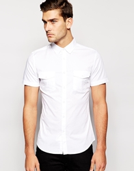 United Colors Of Benetton Short Sleeve Shirt White101
