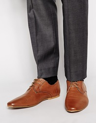 New Look Derby Shoes In Leather Tan