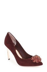 Ted Baker Women's London 'Peetch' Crystal Embellished Pointy Toe Pump