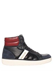 Moncler Leather High Top Sneakers