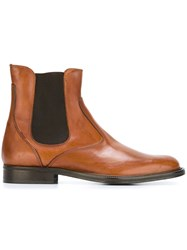 Daniele Alessandrini Stitch Detail Chelsea Boots Brown