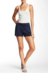 L.A.M.B. Pleated Silk Short Blue