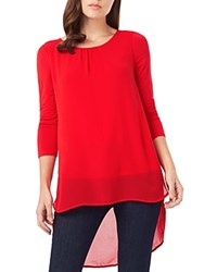 Phase Eight Bonnie High Low Blouse Tomato