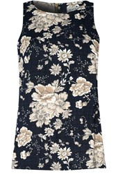 Alice And You Printed Shell Top Navy