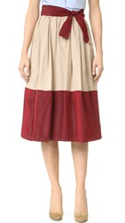 Tome Skirt With Belt Beige