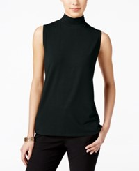 Charter Club Mock Turtleneck Shell Only At Macy's Deep Black