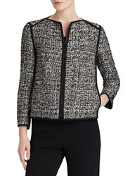Lafayette 148 New York Tweed Blazer Black Multi