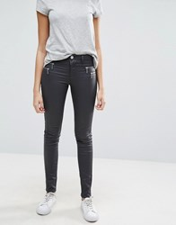 Only Olivia Coated Waxed Jeans Asphalt Grey