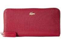 Lacoste Chantaco Large Zip Wallet Chili Pepper Peacoat Wallet Handbags Red