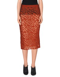 Momoni Momoni Skirts Knee Length Skirts Women Rust