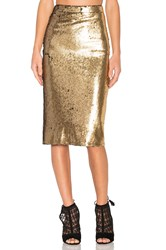 House Of Harlow X Revolve Kiki Skirt Metallic Gold