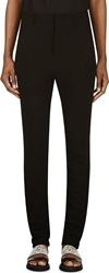Ma Julius Black Wool Relaxed Slim Trousers