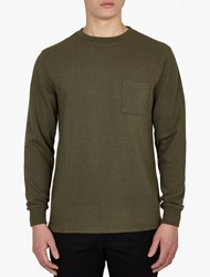 Saturdays Surf Nyc Green Textured Cotton Sweatshirt
