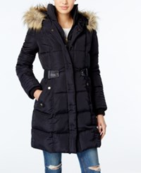 Rachel Roy Faux Fur Trim Puffer Coat Only At Macy's Navy