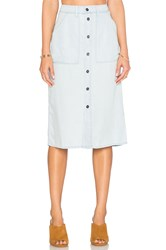 Obey St. Gilles Skirt Chambray