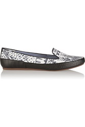 Charles Philip Printed Poplin Loafers Gray
