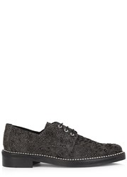 Miista Adelaide Studded Suede Derby Shoes Black