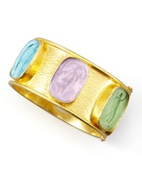 Elizabeth Locke Muse Intaglio 19K Gold Bangle Pastel