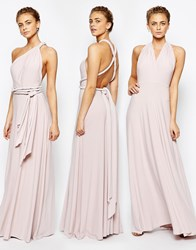 Coast Corwin V Neck Multiway Maxi Dress In Blush Pink