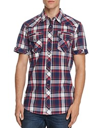 Buffalo Santino Plaid Button Down Shirt Compare At 59 Navy