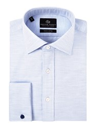 Chester Barrie Men's Contemporary Melange Pinpoint Shirt Sky