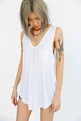 Truly Madly Deeply Voop Pocket Tank Top White