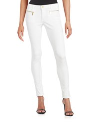 Michael Michael Kors Izzy Exposed Zipper Skinny Jeans White