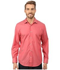 Perry Ellis Non Iron Travel Luxe Solid Shirt Baked Apple Men's Clothing Red