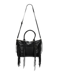 Liebeskind Paula Fringed Suede And Leather Tote Black