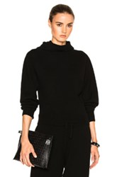 Calvin Klein Collection Camino Cashmere Hoodie In Black