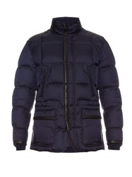 Brioni Japanese Down Quilted Coat Navy