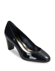 Lauren Ralph Lauren Hala Leather Pumps Navy